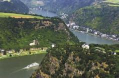 Fluss Rhein Tal Berg