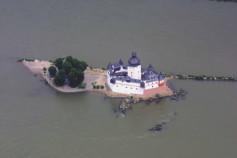 Burg Insel Wasser Fluss