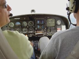Zwei Köpfe Cockpit