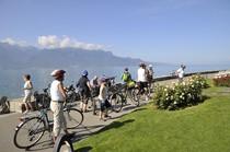 Genfer See Wasser Wiese Menschen